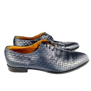 Doucal's Woven Leather Oxfords